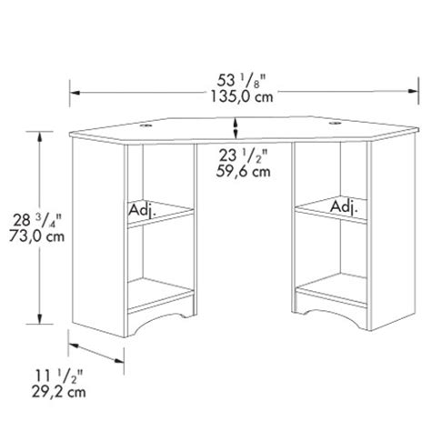 borgsj corner desk size sauder beginnings corner desk 413073 free shipping