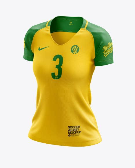 The full shorts mockup templates pack includes: Women's Soccer Jersey mockup (Front View) - Women's Soccer ...