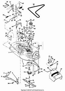 Poulan Pp12542ja Tractor Parts Diagram For Mower Deck