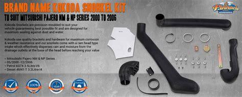 brand kokoda snorkel kit  suit mitsubishi pajero nm np series