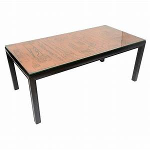 hammered copper top coffee table at 1stdibs With copper metal coffee table
