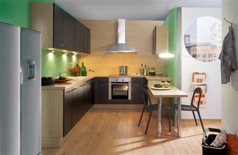 deco peinture chambre cuisine noir et marron