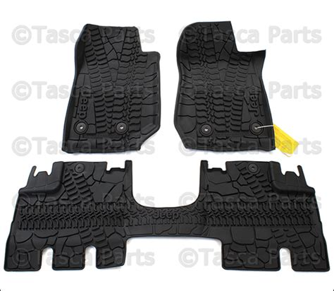 Jeep Wrangler Floor Mats Rubber by Oem 3 Premium Rubber Slush Floor Mats 2014 2016 Jeep