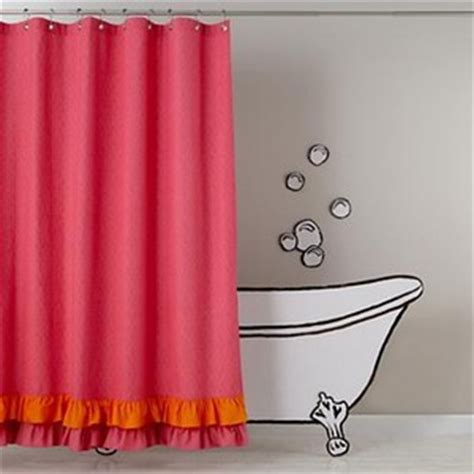the land of nod shower curtains pink and orange