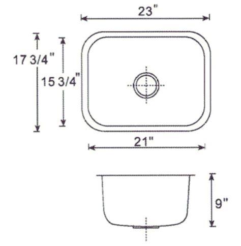 Kitchen Sink Dimension  Kitchen Sink Dimensions Standard