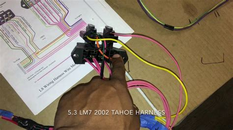 ls swap part  wiring harness video