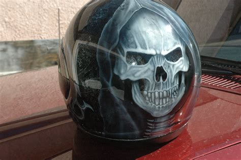 Custom Airbrush Paint Motorcycle Helmets For Sale By Bad
