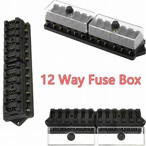 12 Way Standard Blade Block Fuse Box Kit Car Boat Marine