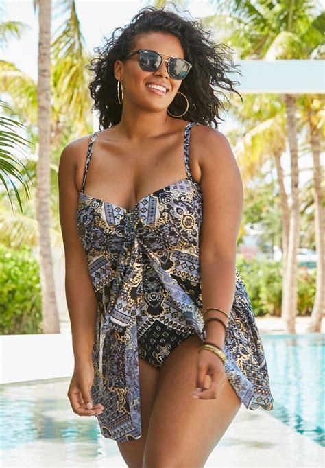 Draped Swimsuit - mesh draped swimsuit plus size one swimsuits