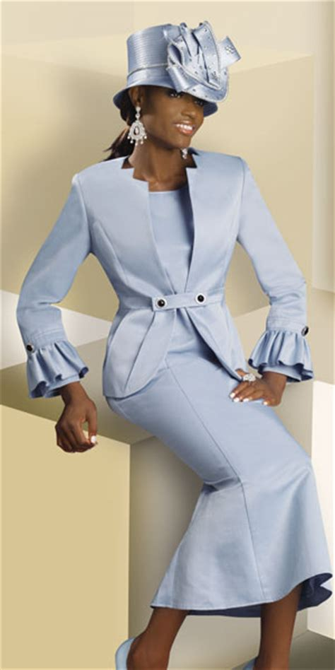 light blue suit womens lisa rene by donna vinci womens light blue church suit