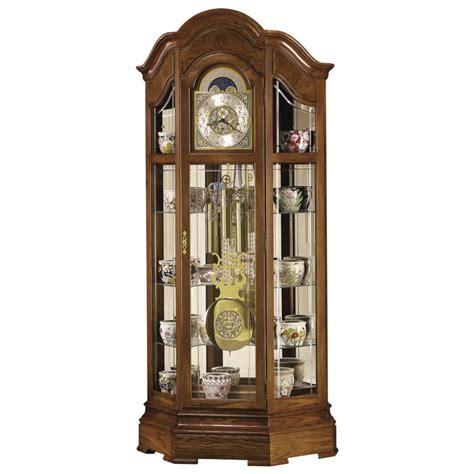 grandfather clock curio cabinet howard miller majestic 610 940 curio grandfather clock