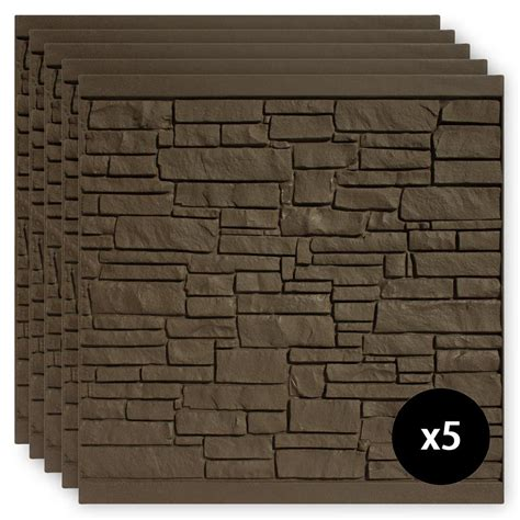 simtek  ft   ft ecostone dark brown composite fence panel pack fpxdbr  home depot
