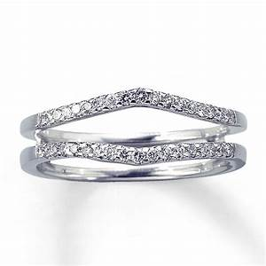 kay diamond enhancer ring 1 4 ct tw round cut 14k white gold With ring enhancers wedding