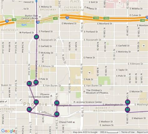phoenix light rail route valley metro light rail system map decoratingspecial com