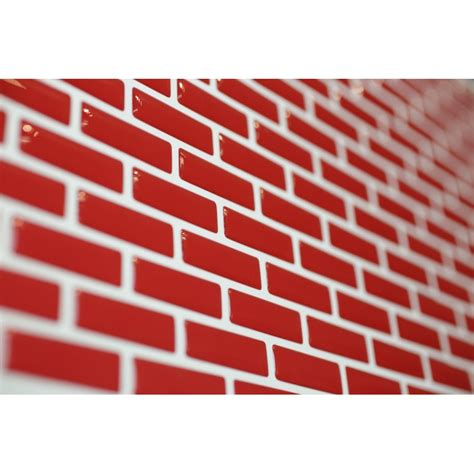 bright red mosaic luxury  gel mosaic tile wall transfer