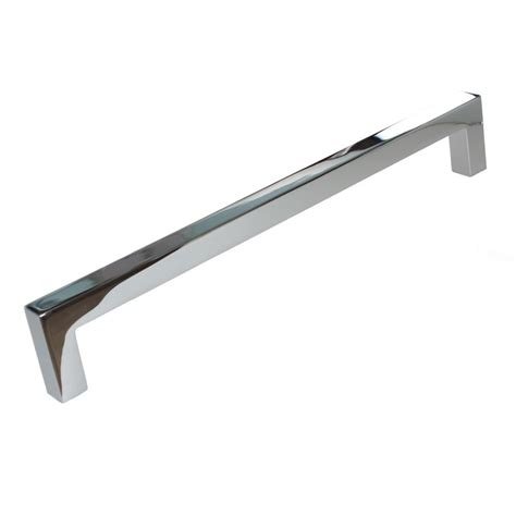 gliderite cabinet bar pulls gliderite 7 9 16 in solid square slim polished chrome