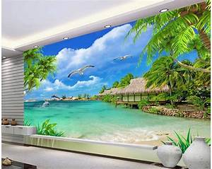 3d wallpaper custom photo non woven mural Hd coconut trees ...
