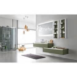 Meuble Salle De Bain Asymétrique : neha meuble de salle de bain contemporain asym trique laqu ou bois ~ Nature-et-papiers.com Idées de Décoration
