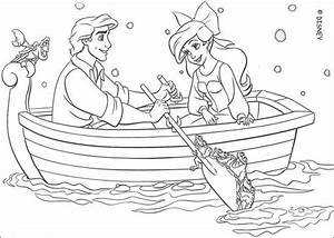 Ariel and eric coloring pages - Hellokids.com