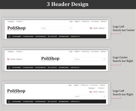 html header template template header html templates station