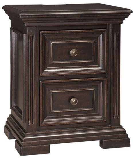 Willenburg Dark Brown 2 Drawer Nightstand, B64392, Ashley
