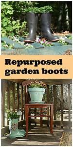 Garden boots repurposed