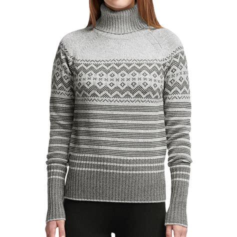 merino wool sweater womens icebreaker aura turtleneck sweater for save 60