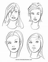 Coloring Face Makeup Pages Faces Drawing Draw Drawings Hair Sketches Blank Templates Printable Practice Painting Cartoon Person Techniques Notes Class sketch template