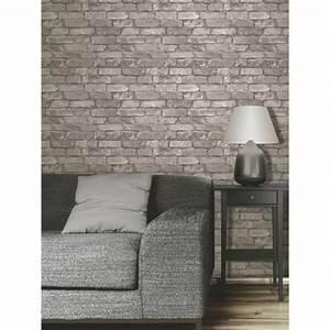 Papier Peint Brique Gris : papier peint brique gris achat vente papier peint ~ Dailycaller-alerts.com Idées de Décoration