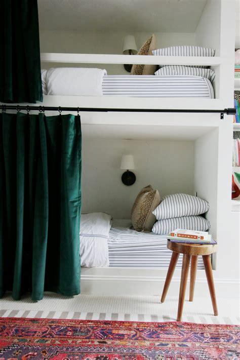 hanging curtains  bunk beds chris loves julia