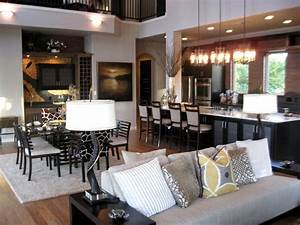 Open concept kitchen and living room decor modernize for Open living room decorating