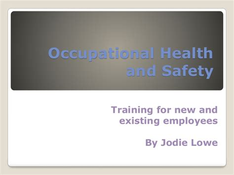 occupational health  safety powerpoint