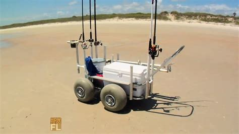 surf fishing cart youtube