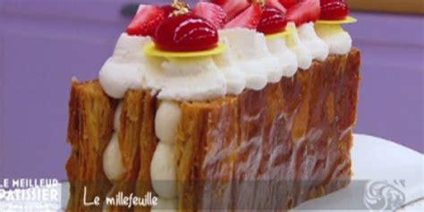 cuisine tv recettes vues à la tv meilleur pâtissier recette du millefeuille de julian alvarez plateau tv
