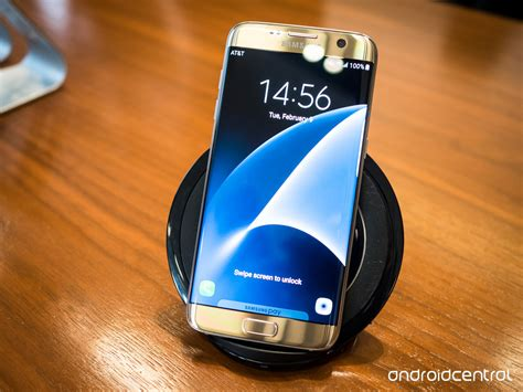 samsung s7 wireless charging samsung galaxy s7 launch sees a new angled wireless fast charger android central