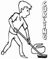 Curling Scribblefun Kunjungi Ambok sketch template