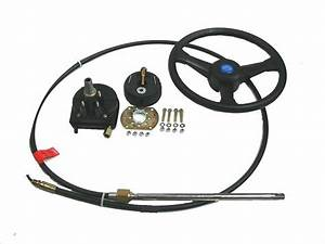 Boat Steering System Rotary 13 U0026 39  Cable Outboard 55 Hp Max
