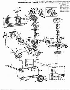 Campbell Hausfeld Vt610203 Air Compressor Parts
