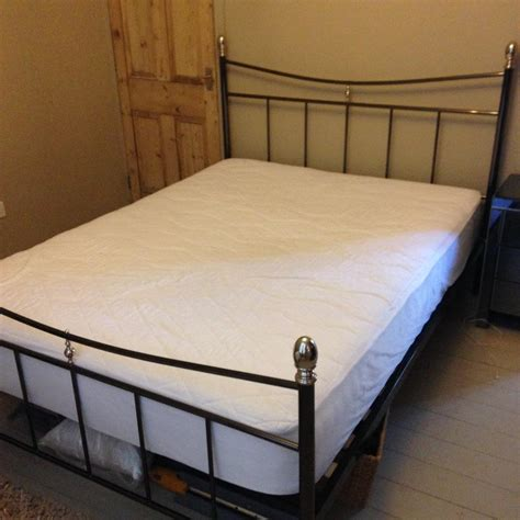 king size metal bed frame with matress united kingdom