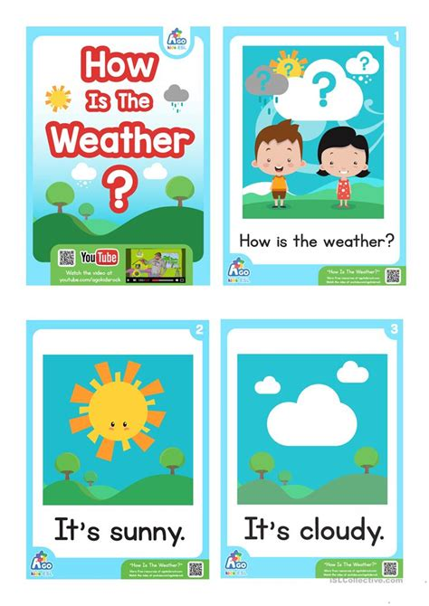 How Is The Weather? Esl Flashcard Set  Weather And Feelings Vocabulary Worksheet  Free Esl