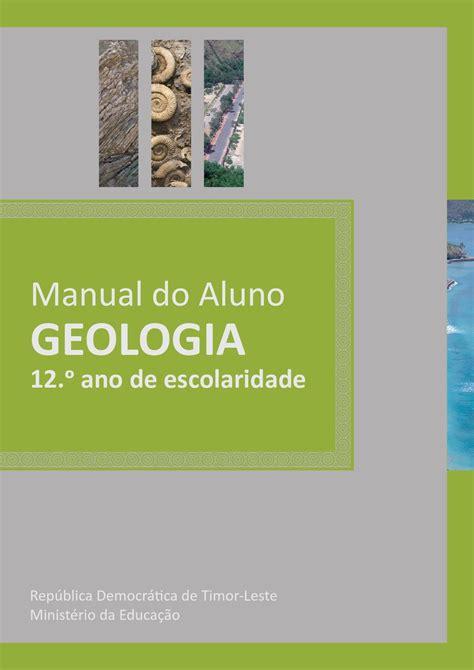 geologia  manual  aluno  universidade de aveiro