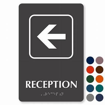 Reception Signs Sign Left Mydoorsign