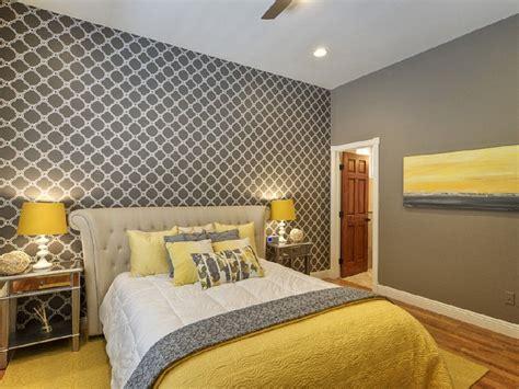 chic yellow  grey bedroom bedroom   grey