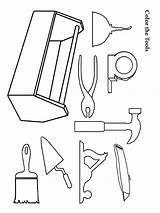 Coloring Tool Boys Tools Printable Template Recommended Mycoloring sketch template
