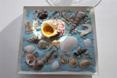 sea shell crafts  unique table centerpiece ideas