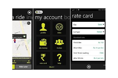 free download ola cabs app for android