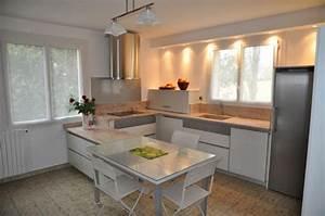 modele cuisine blanc laque kirafes With modele cuisine blanc laque