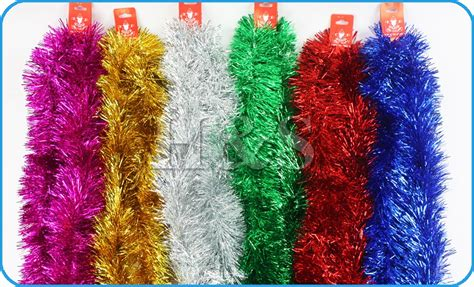 7ft 2 15m deluxe chunky christmas tinsel tree decoration 6 colour 100mm wide ebay