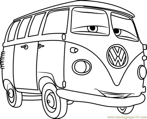 cars characters coloring fillmore from cars 3 coloring page free cars 3 coloring