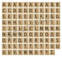 full scrabble alphabet for scrapbooking in photoshop digital